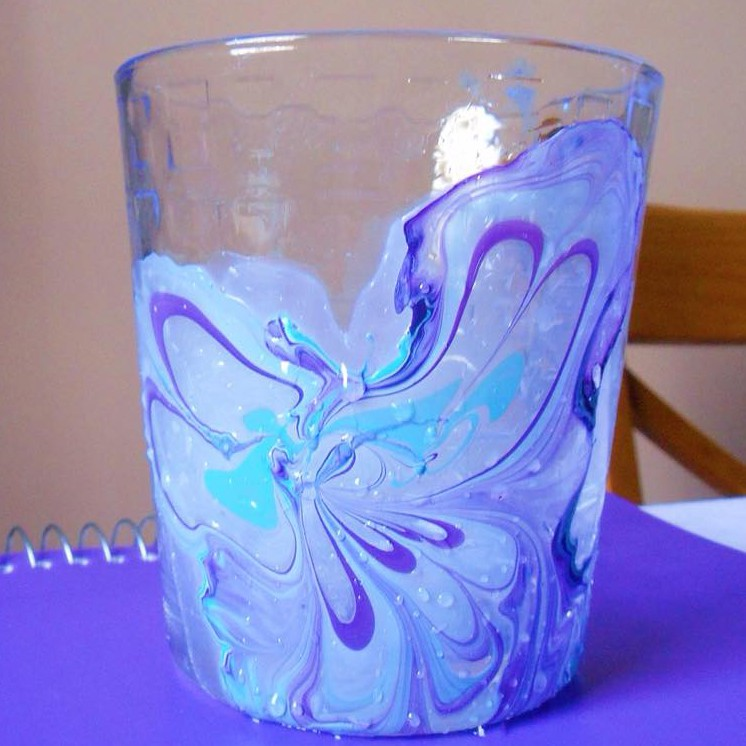 Nail Polish Marble Effect On Glass: Marble Design On Glass – Just That DIY